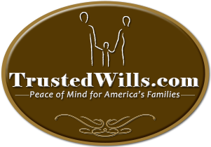 How to make a will, online will, website logo: TrustedWills.com